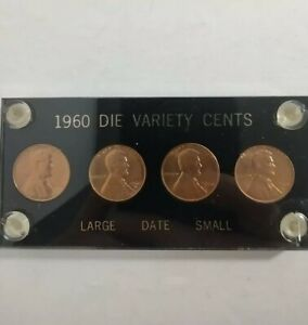 1960 Die Cut Variety Cents Large Date Small