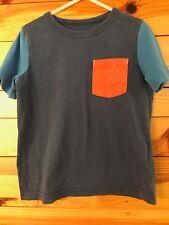 Mini Boden Pocket Shirt Boys Navy Color Block Size 4-5Y