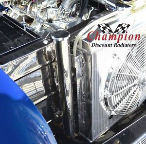 Stainless Steel Radiator Catch Can 2 x 13in Radiator Coolant Overflow Tank Universal Car Accessory