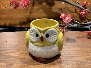 Japanese Lucky Owl Mug Yellow Made in Japan