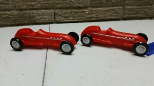 Schylling Rubber Band Racer 2007 Roadster Sports Car Red Plastic Open Wheel 2X
