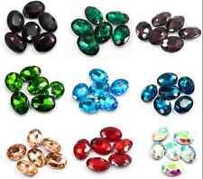 12pcs 30x20mm point back rhinestone oval shape crystal glass beads DIY gem stone