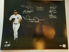 Mariano Rivera Signed 16x20 Photo w/ 7 Sigs & Insc. Steiner COA