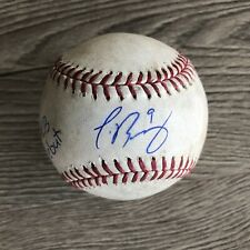 Javier Baez 2014 Signed Game Used Baseball MLB Debut Holo Chicago Cubs