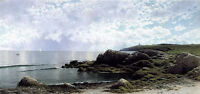 Oil painting alfred thompson bricher - low tide at swallow tail cove landscape