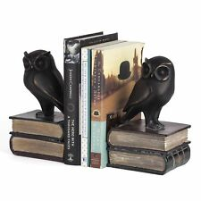 Danya B. Ds780 Decorative Rustic Bookshelf Decor - Owl on Books Bookend Set –