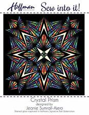 Hoffman Crystal Prism Stained Glass 633 Queen Quilt Pattern Pre-Cut Fabric Kit