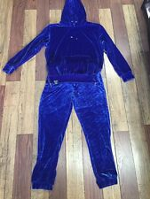 velour pant set Royal Blue Retro12 Size 3XLarge
