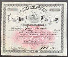 SIOUX FALLS WATER POWER CO Stock 1880. Minehaha County, Dakota Territory BEAUTY