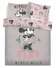 Official Disney Minnie Mouse 'One Of A Kind' Double Bed Duvet Quilt Cover Set