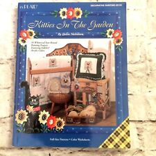 Plaid KITTIES IN THE GARDEN Decorative Painting Patterns Instructions Art Book