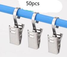 50x Packung von S-Form Gardinenhäkchen Metall Gardinenstange Haken mit Clip