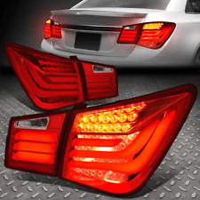 For 2011-2016 Chevy Cruze Red Clear Led Tube Bar Tail Lights Signal Lamps 4Pc