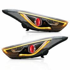 Free Shipping to PR for Elantra 2011-2016 Sedan LED Headlights DEMON EYES