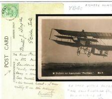 Gb 1909 Pioneer Aviation Postcard Historic Flight Message *Oxshott* Surrey Y64c
