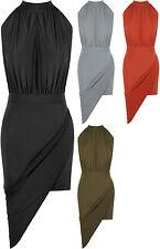 Polyester No Pattern Regular Sleeveless Dresses for Women
