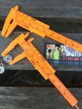 "✤ pequeñas práctico 4 1/2 "" 108mm Naranja Vernier Caliper Calibrador de medida métricas Imperial"