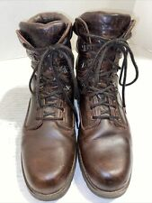 New listing mens rockport hiking work  hunting boots brown leather gortex 12 M