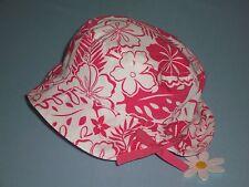 "Gymboree girls vintage ""Surf Girl"" 0-6mth Hat.Bucket Style.Coral Hibiscus"