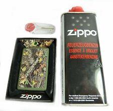 Zippo Mossy Oak Tarn look + gasolina & fuego piedras, acodado motivo encendedor
