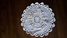 ANCIEN NAPPERON coton Blanc au crochet 23 cm @OLD