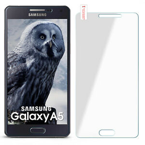 Curb Foil Glass Film for Samsung Galaxy A5 2015 Hard Clear Screen Protection