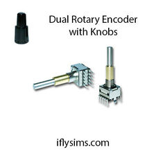 Dual Concentric Rotary Encoder -with Knobs (ONLY 1 ENCODER PROVIDED 2 are shown)