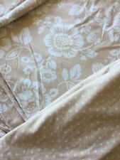 Ikea Double  Reversible Floral  Quilt Cover X4 Pillow Cases With Ties
