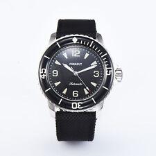 New 45MM Corgeut Black dial  Ordinary glass luminous diving automatic wristwatch