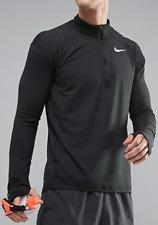 Nike Running dri-fit element half-zip sweat in black 857820-010 Size Large