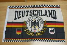 Fahne Flagge Deutschland Sport Fußball Lorbeerkranz WM - 60 x 90 cm