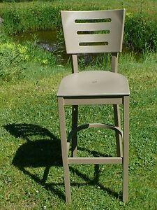 "$400 MSRP Aluminum Arm-Less Bar Chair Desert Sand Color 45"" Tall 30"" Seat Height"