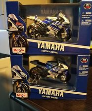 MAISTO YAMAHA FACTORY RACING 1/18 SET OF 2 NO.99 & NO.11 31583