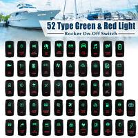 Dual Led Interruttore A Bilanciere Bipolare 12v 24v On-Off 5 Pin Luminoso