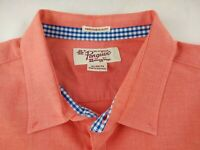 Pengiun Mens XL Long Sleeve Coral Button Front Shirt Heritage Slim Fit