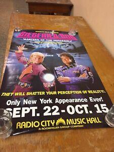 "Siegfried & Roy Radio City Music Hall  25""x40"" Promo Magic Magician"