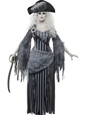 Ghost Ship Pirate Princess Halloween Grey Fancy Dress Costume Size 16 - 18