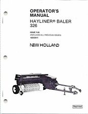 New Holland 326 Square Baler Operator Manual 42032611