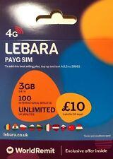 LEBARA GOLD VIP EASY MOBILE PHONE NUMBER SIM CARD