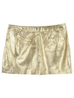 Bonpoint Gold Metallic Mini Skirt
