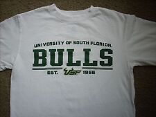 Usf Bulls University Of South Florida Basketball T-Shirt Small Sharp White