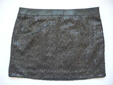 GUESS S NWT Shandi Sequin Mini Skirt Black Straight Pencil Party Cocktail Sexy