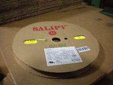 """Salipt Heat Shrink Tubing 2:1, Yellow 1mm (3/64"""") wide x 200m(656ft) long reel"""