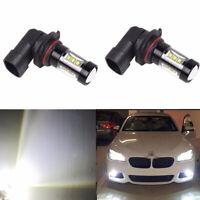 2x 9006 HB4 80W 16 LED Fog Light Driving Globe Bulb Projector Headlight 6500K