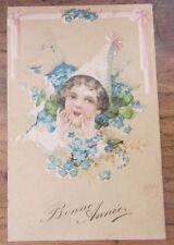 Cartolina d'epoca in rilievo Bambini - primi '900 - postcard - tarjeta -