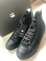 """G-STAR RAW BLACK """"SCUBA II MID"""" LACE UP TRAINERS SHOES - UK 7 (41) - NEW & BOXED"""