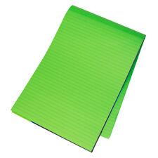 5 x aiuto memoria A4 Brillante Verde 100 pagine di carta BLOCCO NOTE MEMO Foderato Scrittura Pads