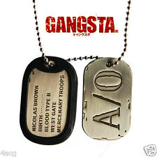 Gangsta Nicolas Brown A/0 New Anime Cosplay Dog Tag Necklace Chain