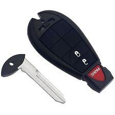 3BTN Black Keyless Entry Remote Key Fob Shell Case Cover for For Dodge Chrysler