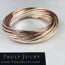 UK Ladies Luxury Designer Rose Gold Chunky Multi Bangle Bracelet Jewellery Gift